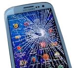 разбитый смартфон samsung